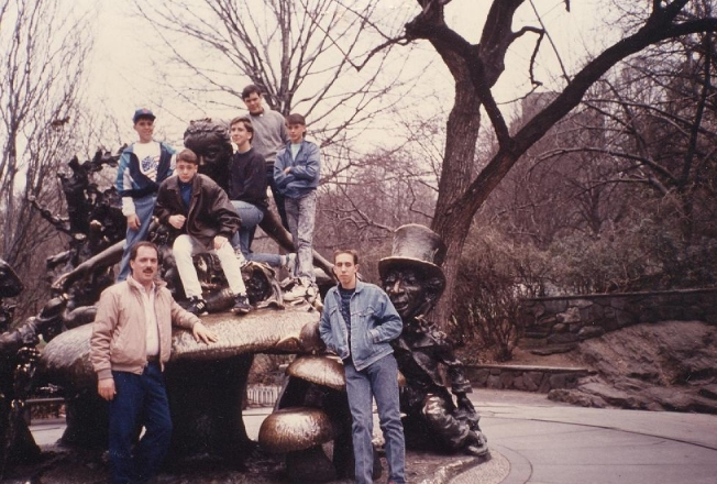 1990, Central Park. Chorus class trip with Mr. Barlow.