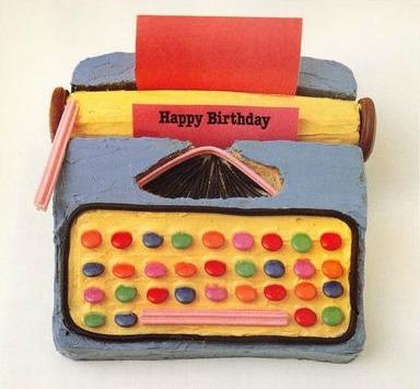 typewriter-cake